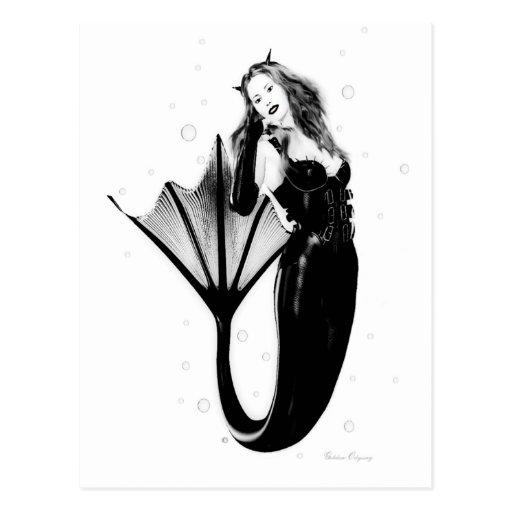Dark Mermaid Postcards