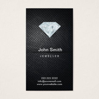 Dark Metal & Diamond Jewelry Business Card