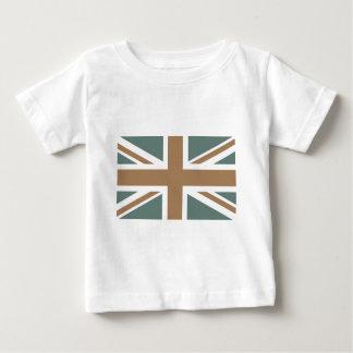 Dark Metallic Iron Union Jack British(UK) Flag T Shirt
