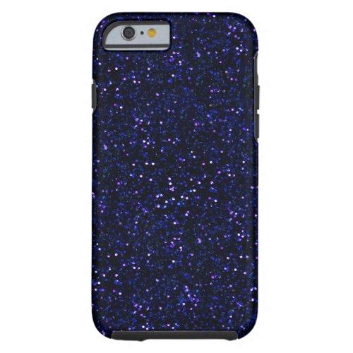 Dark Midnight Indigo Blue Glitter Phone Case