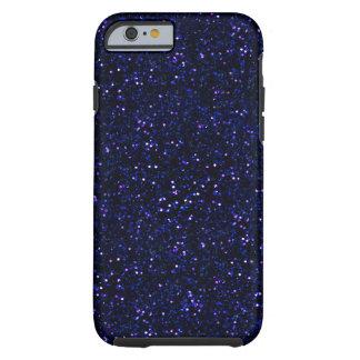Dark Midnight Indigo Blue Glitter Tough iPhone 6 Case