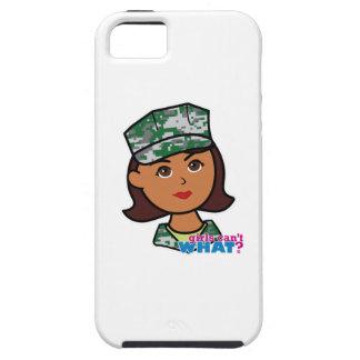 Dark Military Girl Camo Head iPhone 5 Covers