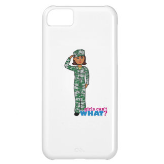 Dark Military Girl in Camo Cover For iPhone 5C