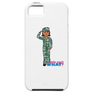 Dark Military Girl in Camo iPhone 5 Cases