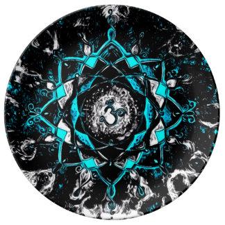 Dark Mind Center Mandala Porcelain Plates