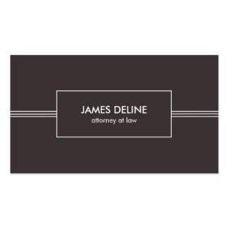 Dark Minimalist Elegant Attorney Business Card Pack Of Standard Business Cards