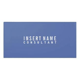 Dark moderate blue Professional Modern Plain Door Sign