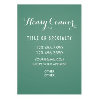 Dark Moderate Spring Green Vertical Board Large Business Card