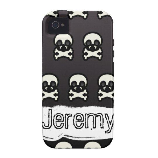 Dark Modern Skull And Crossbones Iphone Case