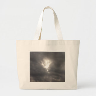 Dark Moods -- Grey clouds in Spring with Sun. Canvas Bag