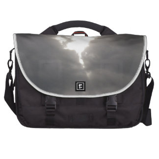 Dark Moods -- Grey clouds in Spring with Sun. Commuter Bag