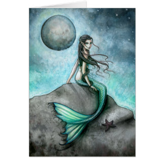 Dark Moon Mermaid Card by Molly Harrison