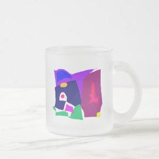 Dark Morning Breakfast Power Dependable 10 Oz Frosted Glass Coffee Mug