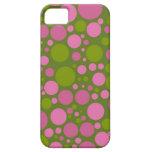 Dark Moss Green & Dark Pink Polka Dots iPhone 5 Case