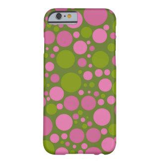 Dark Moss Green Dark Pink Polka Dots iPhone 6 Case