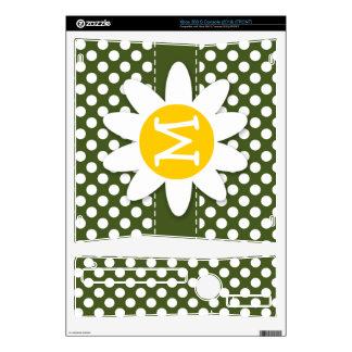 Dark Moss Green Polka Dots Daisy Skins For The Xbox 360 S