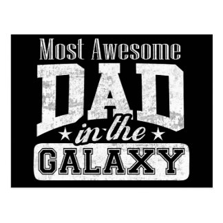 Dark Most Awesome Dad In The Galaxy Postcard