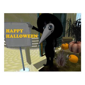 Dark Mouse Halloweenie Pumpkins Full Display Postcard