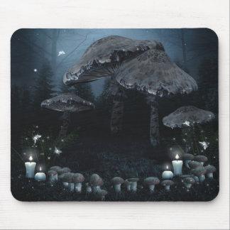 Dark Mushroom Ring Mouse Pad