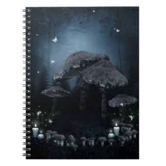 Dark Mushroom Ring Notebook