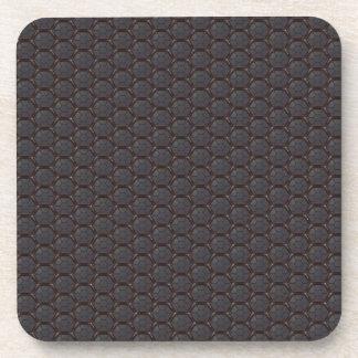 Dark Nano fiber Honeycomb Texture Background Coaster