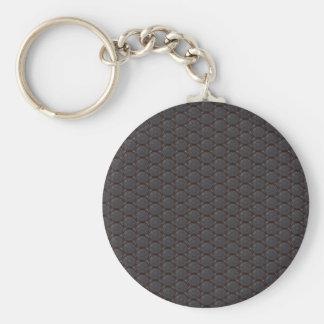 Dark Nano fiber Honeycomb Texture Background Keychain