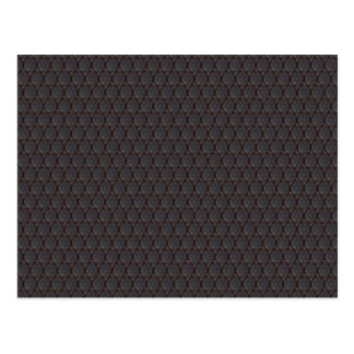 Dark Nano fiber Honeycomb Texture Background Postcard