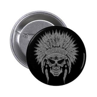 Dark Native Skull Pin