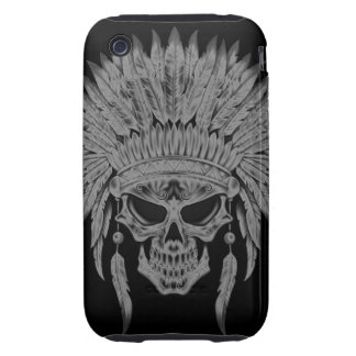 Dark Native Skull iPhone 3 Tough Cover