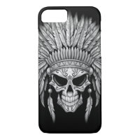 Dark Native Sugar Skull with Headdress iPhone 8/7 Case