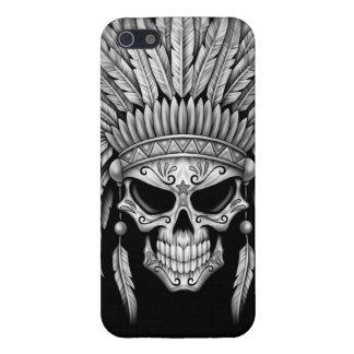 Dark Native Sugar Skull with Headdress iPhone SE/5/5s Cover