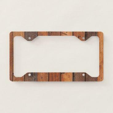 produkto Dark  Natural Wood Panel License Plate Frame