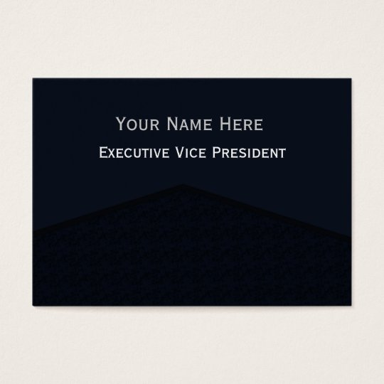 Dark Navy Blue Center Point Business Card