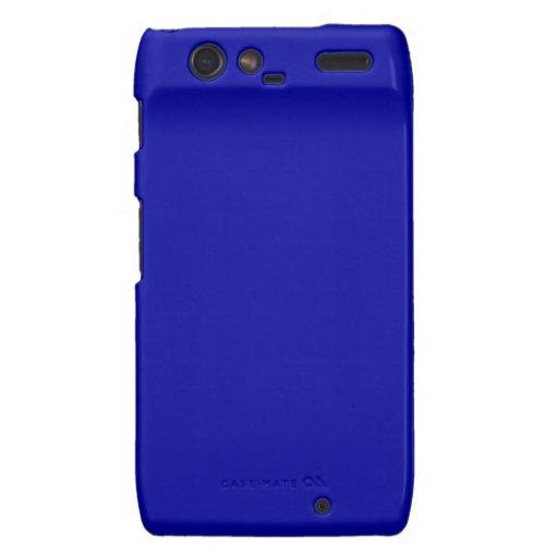 Dark Navy Blue Color Only Custom Design Products Motorola Droid RAZR Case