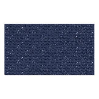 DARK NAVY BLUE GLITTER DOTS PATTERN BACKGROUND WAL BUSINESS CARDS
