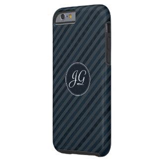 Dark Navy & Blue Gray Monogram iPhone 6 Cases iPhone 6 Case