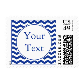 Dark Navy Blue Postage Stamp w/ Custom Text Postage