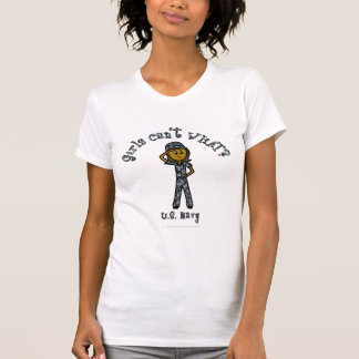 Dark Navy Girl USA T Shirt