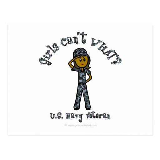 Dark Navy Veteran in Blue Camo Post Cards
