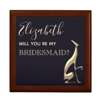 Dark Navy Will You Be My Bridesmaid Proposal Box