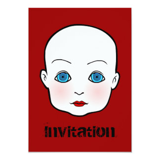 "Dark Night Baby Invitation 5"" X 7"" Invitation Card"