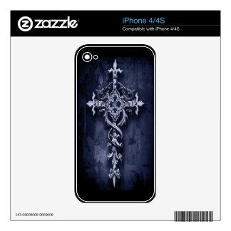 Dark Night Cross Decals For iPhone 4