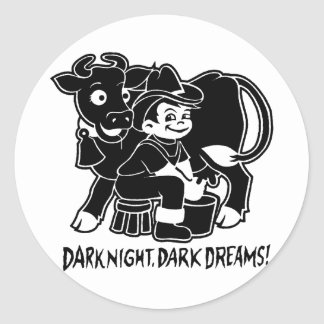 Dark Night Dark Dreams Classic Round Sticker