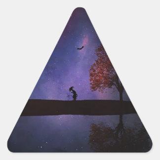 Dark Night Fantasy Triangle Sticker