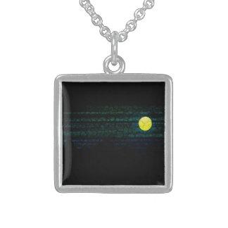 Dark Night Full Moon Necklace