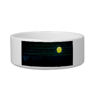 Dark Night Full Moon Pet Bowl