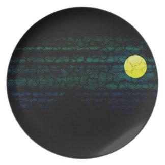 Dark Night Full Moon Plate