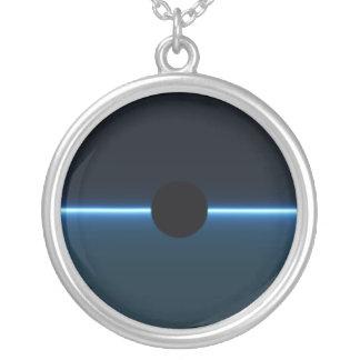 Dark Night Round Pendant Necklace