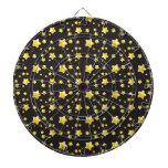 Dark night sky with stars pattern dartboard