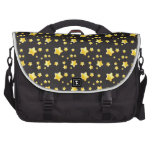 Dark night sky with stars pattern laptop messenger bag